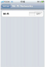 "Tick ""Wi-Fi"" to switch-on then it will change to blue"
