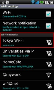 Select an appropriate Wi-Fi connection hotspot in overseas and enter user ID login and password (if necessary)