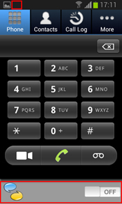 Then RoamSave keypad will pop up