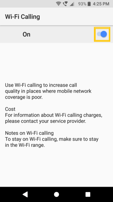 Wi-Fi Calling | csl