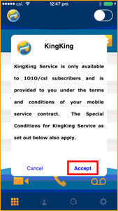 Accept the KingKing Terms & Conditions