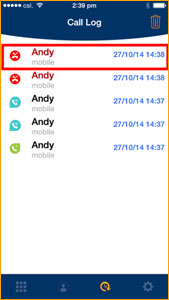 And the mobile number will show in red in the Call Log