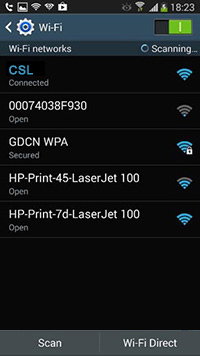 "Switch on Wi-Fi and select ""CSL"" SSID"