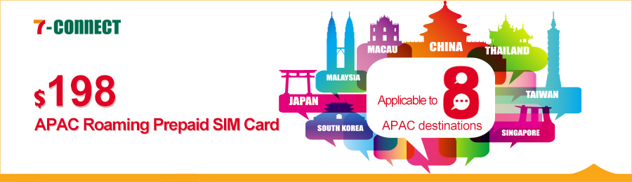 $198 APAC Roaming Prepaid SIM Card