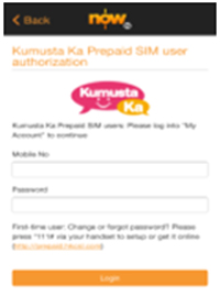 Step 2: Open the app and registeriii your Kumusta Ka Prepaid SIM number